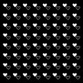 White pure heart pattern background
