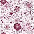 White-purple seamless floral pattern Stock Image