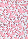 White puzzle on pink background Royalty Free Stock Photo