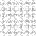White puzzles pieces seamless pattern. Jigsaw Puzzle template ready for print. Cutting guidelines isolated on white Royalty Free Stock Photo