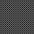 White quatrefoil pattern classic on black background Stock Images