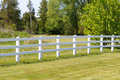 White rail fence Royalty Free Stock Image