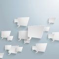 White rectangle speech bubbles arrow on the grey background eps file Stock Photos