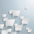 White rectangle speech bubbles on the grey background eps file Stock Photography