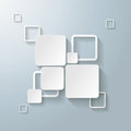 White rectangle squares options infographic design with on the grey background eps file Royalty Free Stock Photos