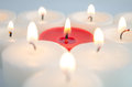 White and red candles Royalty Free Stock Photo