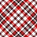 White red diagonal check square pixel seamless pattern Royalty Free Stock Photo