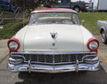 1956 White and Red Ford Victoria Fairlane Royalty Free Stock Photo