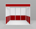 White Red Indoor Trade exhibition Booth Stand Royalty Free Stock Photo
