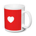 White and red mug love realistic 3D mockup