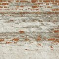 White Red Old Brick Painted Wall With Damaged Plaster Royalty Free Stock Photo