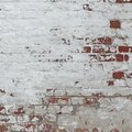 White Red Retro Brick Wall Whitewash Frame Background Texture Royalty Free Stock Photo