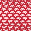 White on red turtle geometric pattern seamless repeat background