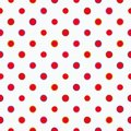 White pattern with polka dots.