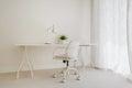 White retro desk Royalty Free Stock Photo