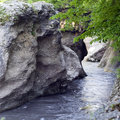 White river gorge the republic of adygea russia Royalty Free Stock Image