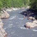 White river granite gorge adygea russia Stock Image