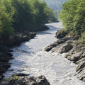 White river granite gorge adygea russia Stock Photos
