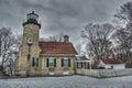White River  Lighthouse Royalty Free Stock Photo