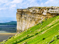 White rock the vertical rocky mountain in crimea Stock Images