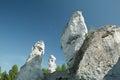 White rocks in ogrodzieniec castle poland Stock Photography