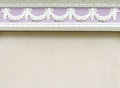 White roes stucco Stock Photos