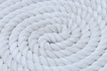 White rope coil a of long line fishing for ship anchor Royalty Free Stock Photo