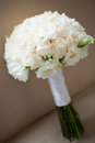 White roses wedding bouquet Royalty Free Stock Images