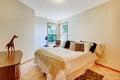 White safari theme bright bedroom. Royalty Free Stock Photo