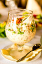 White salad in glass Stock Photo