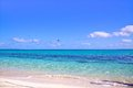 White sand beach with amazingly clear water, Heron Island Australia Royalty Free Stock Photo