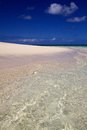 White sand beach with amazingly clear water, Heron Island Australia Royalty Free Stock Photo