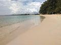 White Sand Beach With The Sea ...