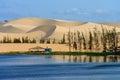 White sand dune in Mui Ne, Vietnam Royalty Free Stock Photo