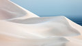 White sand dunes Stock Photography