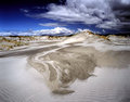 White sand dunes on the island of farewell spit south island new zealand Stock Photography