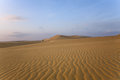 White sand dunes on sunrise mui ne vietnam Stock Photo