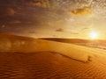 White sand dunes on sunrise, Mui Ne, Vietnam Royalty Free Stock Photo