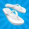 White Sandals Royalty Free Stock Photo