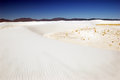 White sands nm view of the pristine wave like gypsum sand dunes of whites national monument located in new mexico at the edge of Royalty Free Stock Photos