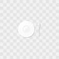 White saucer with a coffee spoon. Little plate vector. Table setting.