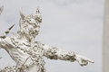 White sculpture of giant in thai temple Royalty Free Stock Photography