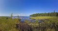 White sea baltic canal karelia panoramic photo of the shore of in Stock Photo