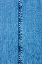 White seam on denim background texture Royalty Free Stock Photography