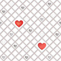 White seamless geometric texture tile background love hearts button seamles st valentine pattern Royalty Free Stock Images