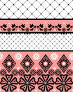 White seamless lace pattern with fishnet on background Royalty Free Stock Photos