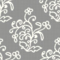 White seamless lace pattern on a gray background. Royalty Free Stock Photo