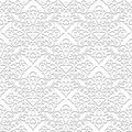 White seamless pattern background damask ornament in neutral color Royalty Free Stock Photos
