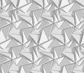 White shaded abstract geometric pattern. Origami paper style. 3D rendering background. Royalty Free Stock Photo