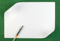 White sheet of paper with curled edge Royalty Free Stock Photography